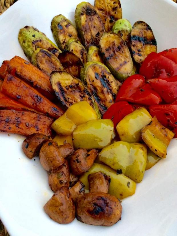 (4) grilled veggies