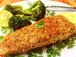 salmon-almond